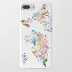 world map landmarks collage iPhone 7 Plus Slim Case