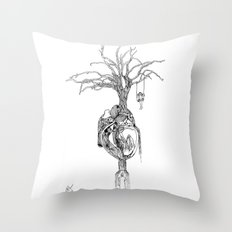 Outpouring of the heart Throw Pillow