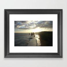 Dusk falls over the Great Southern Ocean Framed Art Print