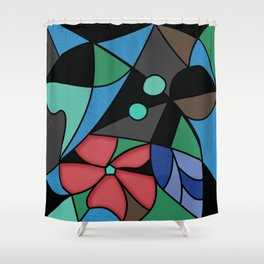 Abstract pattern Mosaic . Shower Curtain