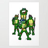 teenage mutant ninja turtles Art Prints featuring Teenage Mutant Ninja Turtles by beetoons