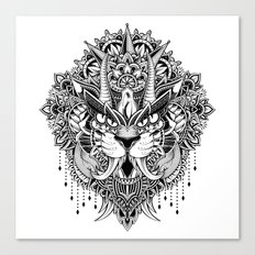 Tiger Mandala Canvas Print