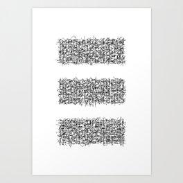 tri white Art Print
