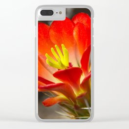 Hedgehog Cactus Flower Clear iPhone Case