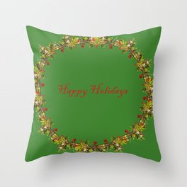Madrone Holiday Pattern Throw Pillow