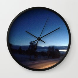 Oncoming Lights  Wall Clock