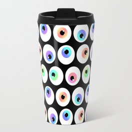 Lovely Sparkly Rainbow Eyeballs Travel Mug