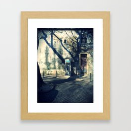 Public phone in Alfama Framed Art Print