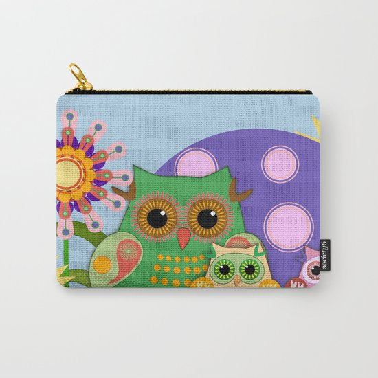 Owls, Flowers Fantasy design Carry-All Pouch