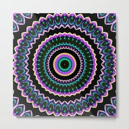 Neon mandala 5 Metal Print