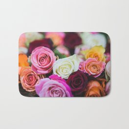 Colorful Roses Bath Mat
