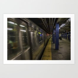 Late night train rides. Art Print