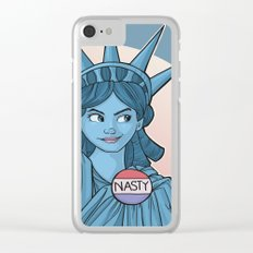 Nasty Lady Liberty Clear iPhone Case