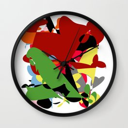 Forest of Colors, Abstract Art Wall Clock