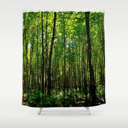 Green breeze Shower Curtain