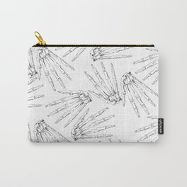 HAND BONES PATTERN Carry-All Pouch
