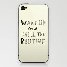 WAKE UP iPhone & iPod Skin