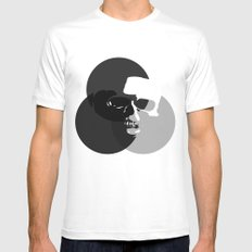 Ghost MEDIUM White Mens Fitted Tee