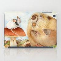 beaver iPad Cases featuring Mouse & Beaver by Patrizia Donaera ILLUSTRATIONS