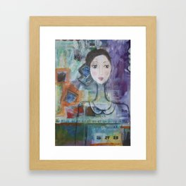 Age is just a number Framed Art Print