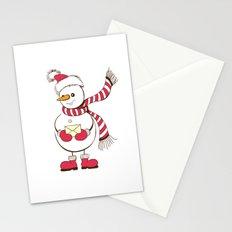 Snowman holding envelope Christmas design Stationery Cards