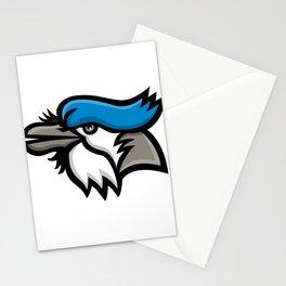 Blue Jay Head Mascot Stationery Cards