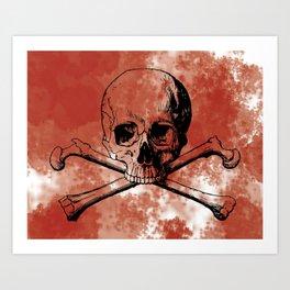 Bloody Skully Art Print