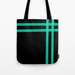 Mint Strip Tote Bag