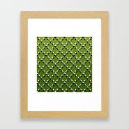 Mod Kelly Green Framed Art Print