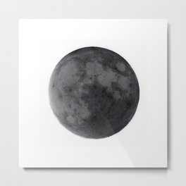 Moon at day Metal Print