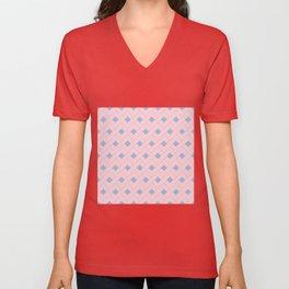 Rose Quartz and Serenity Geometric Unisex V-Neck