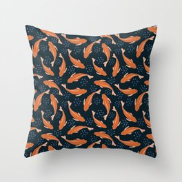 Goldfish in the pond Throw Pillow
