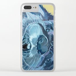 Mustache the Otter Clear iPhone Case