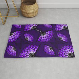 African Art Cloth in Purple Rug