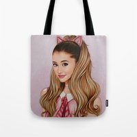 60s Tote Bags featuring The 60s Ariana by The Art Of Dreams
