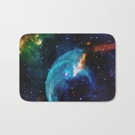 Blue Bubble Bath Mat