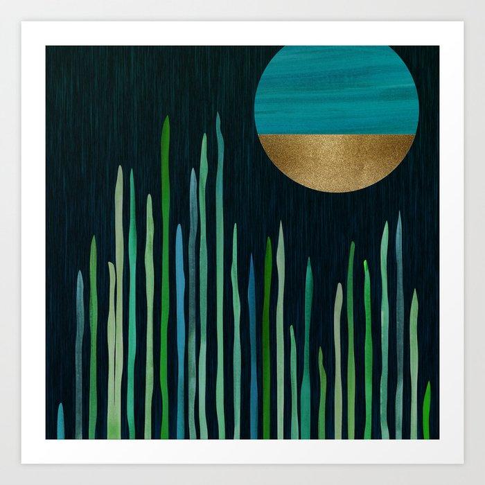 Emerald Dreams Art Print
