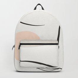 Dreaming Girl Portrait #minimalart Backpack