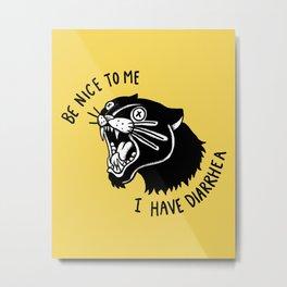 Panther Poop Metal Print