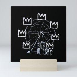 Banksy - Ferris Wheel - Tribute To JMBasquiat Artwork Mini Art Print