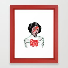 REBEL REBEL LEIA Framed Art Print