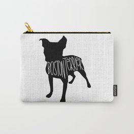 Boston Terrier Silhouette Carry-All Pouch