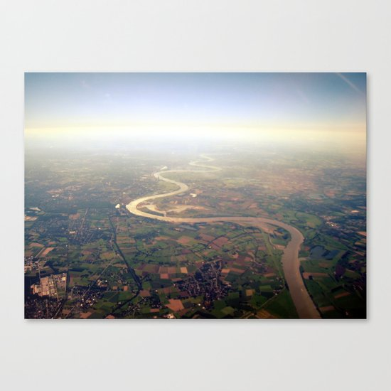 rhine from above. Canvas Print