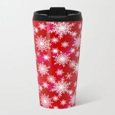 Snowflakes 3 Metal Travel Mug