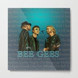 Bee Gee's Poster Metal Print