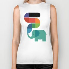 Rainbow Painter Biker Tank