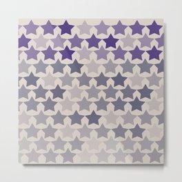 Blue Purple Stars Metal Print