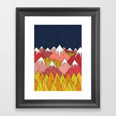 The mountains in the forest Framed Art Print