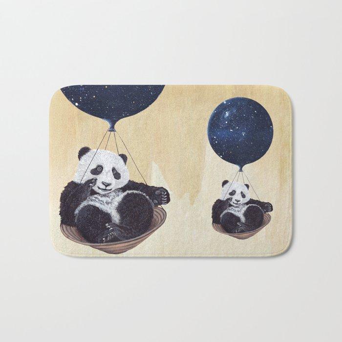 Panda in space Bath Mat