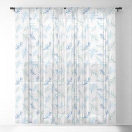 Winter Twigs Sheer Curtain